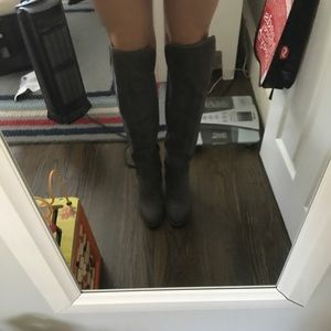 Lucky brand over the knee gray shade boots